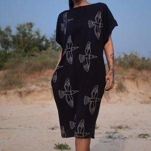 No Nasties Midi Organic Cotton Dress Sustainable L